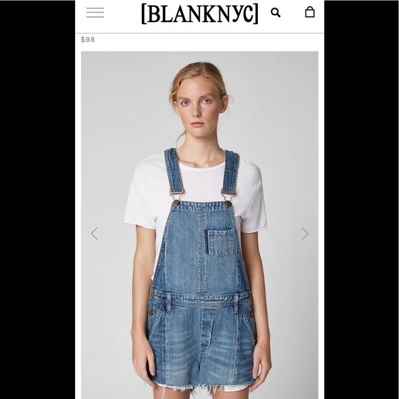 🌺 BLANK-NYC; BNWT Denim Kingpin Shortall; Sz. W32